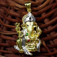 Ganesh Pendant in Gold - Design CIV