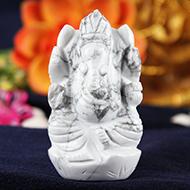 Howlite Ganesha - 81 gms