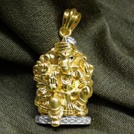 Ganesh Pendant in Gold - Design CV