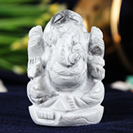 Howlite Ganesha - 77 gms