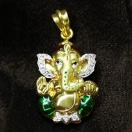 Ganesh Pendant in Gold - Design CVI