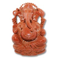 Sunstone Ganesha - 529  gm