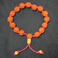 Punch Mukhi Rudraksha Bracelet - Chikna Bead - I