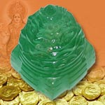 Green Fluorite Shree  Yantra - 96  gms
