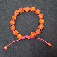 Punch Mukhi Rudraksha Bracelet - Chikna Bead - II