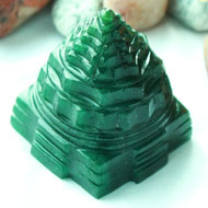 Green Jade Shree Yantra - 89 gms