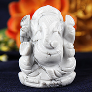 Howlite Ganesha - 122 gms