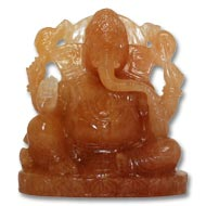 Yellow Jade Ganesh - 440 gms