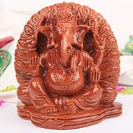 Sunstone Ganesha - 1480 gms
