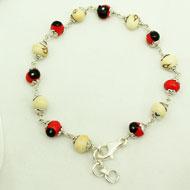 Chirmi beads silver bracelet - I