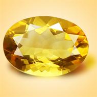 Yellow Citrine - 4.50 Carats - Oval