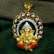 Ganesh Pendant in Gold - Design CVIII