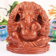Sunstone Ganesha - 1223 gms