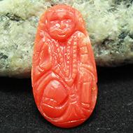 Coral Hanuman - 4.75 carats