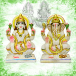 Lakshmi Ganesh in Marble