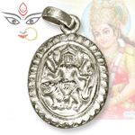 Ambe Maa Locket in Pure Silver