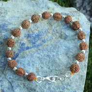 Mars power bracelet - Java in Silver balls