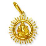 Ganesh Locket - in Pure Gold - Design V