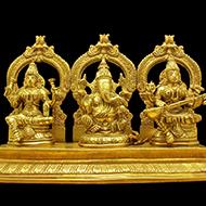 Laxmi Ganesh  Saraswati Idol - CI