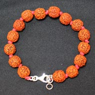 Punch Mukhi Rudraksha Bracelet - Chikna Bead - III