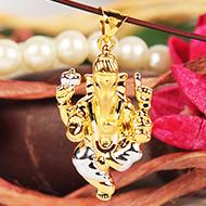 Ganesh Pendant in Gold - 3.59 gms