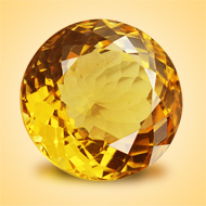 Yellow Citrine - 12.50 Carats - Round