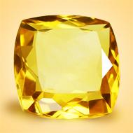 Yellow Citrine - 12.50 Carats - Square Cushion