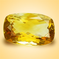 Yellow Citrine - 12.50 Carats - Cushion