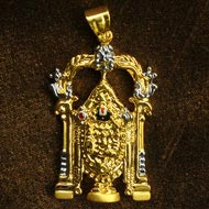 Tirupati Balaji Locket in Pure Gold - Design VIII