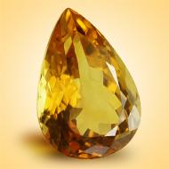 Yellow Citrine - 13 Carats - Pear