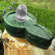 Sphatik Lingam with  Greenjade yoni base - X