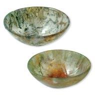 Tree Agate Bowls - Set of 2