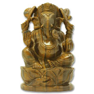 Tiger Eye Ganesha - 1035 gms