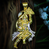 Hanuman locket in pure Gold