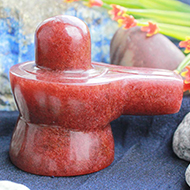 Natural Sunstone Shivaling - 142 gms