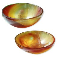 Carnelian Bowls - Set of 2