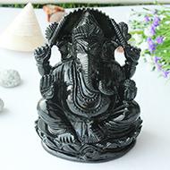 Black Jade Ganesha - 902 gms