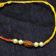 2 Mukhi Rakhi Pearl Beads with Panchdhatu Chakri - I