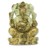 Ganeshji in Picture Jasper - 627 gms