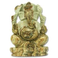 Ganeshji in Picture Jasper - 627 gms