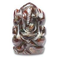 Gomedh Ganesha - 92 carat