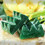Dark Green Jade 9 Pyramid grid - Set of 2