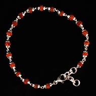 Rudraksha Bracelet in silver with self design..