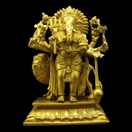 Ganesha with Lion in Brass