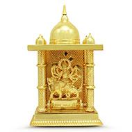 Durga in Lead Temple