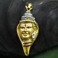 Shiva Locket in Pure Gold - Design I