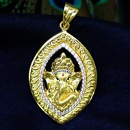 Ganesh Pendant in Gold - Design CIX
