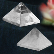 Pyramid in Natural (Sphatik) - Set of 2