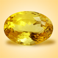 Yellow Citrine - 7.50 Carats - Oval