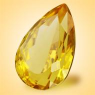 Yellow Citrine - 7.50 Carats - Pear